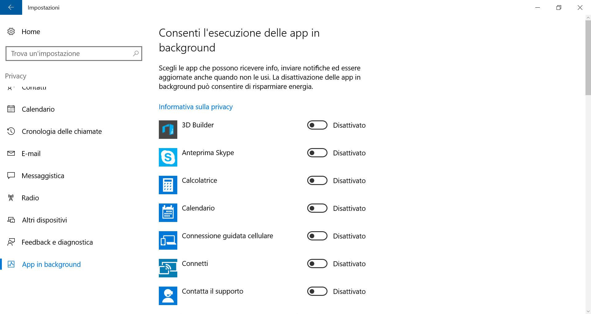 Windows 10: come prolungare la durata della batteria