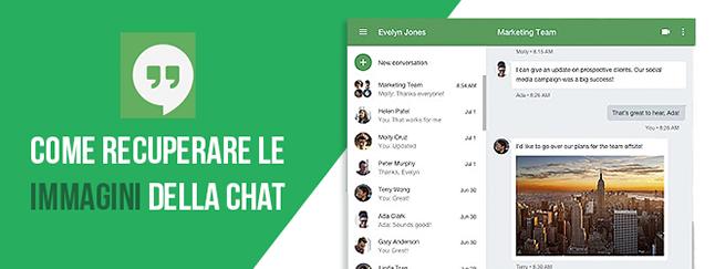 Google Hangouts: come recuperare le immagini delle conversazioni